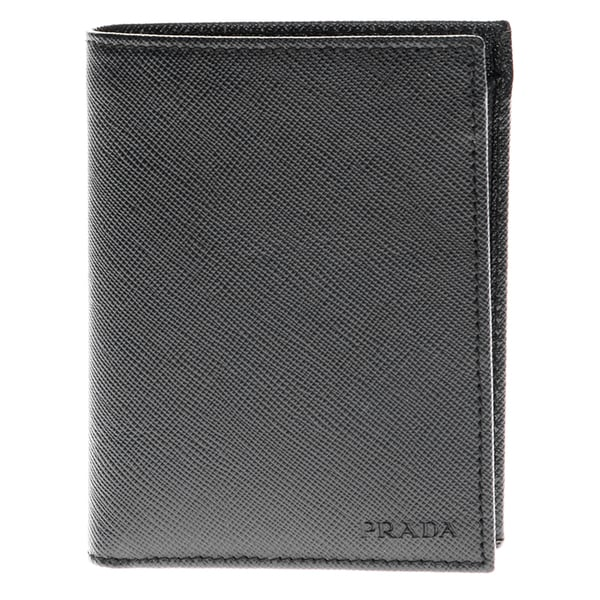 Prada Saffiano Leather Black Billfold Wallet