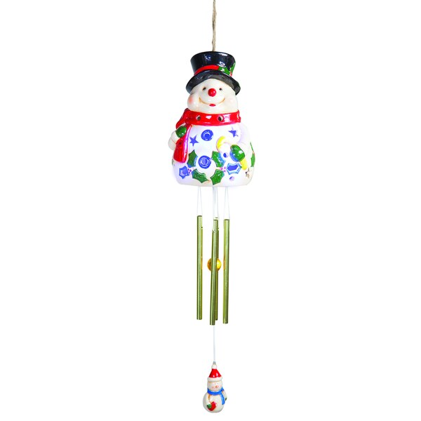 Snowman Solar LED Wind Chime