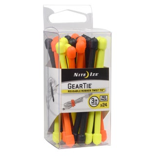 Nite Ize Gear Tie Propack 3-inch Assorted 24 Pack
