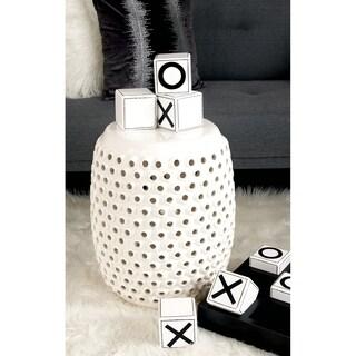 Ceramic Open Hole Design Side Table