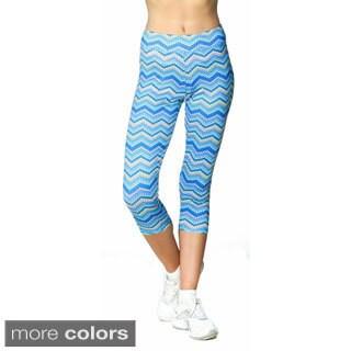 S2 Sportswear Women's High Performance Chevron Pattern Capri