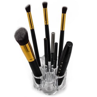 Acrylic Flower Cosmetic and Makeup Brush Holder