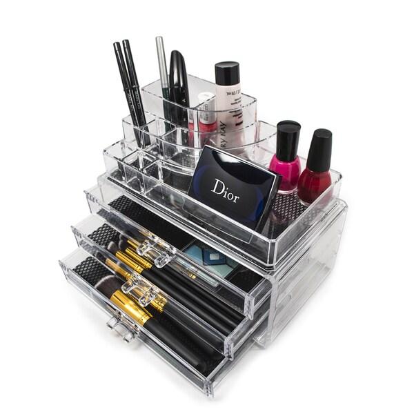 3-drawer Clear Acrylic Makeup Organizer