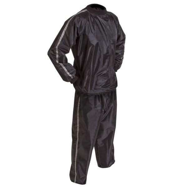 GoFit Extreme Sauna Suit 2 Piece, Black
