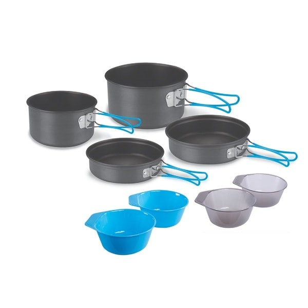 Stansport 4-person 9-piece Hard-Anodized Aluminum Cook Set
