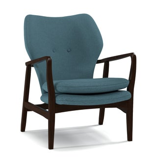 Portfolio Charlie Caribbean Blue Linen Arm Chair
