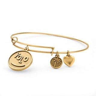 PalmBeach Goldtone YOLO Tailored Charm Bracelet