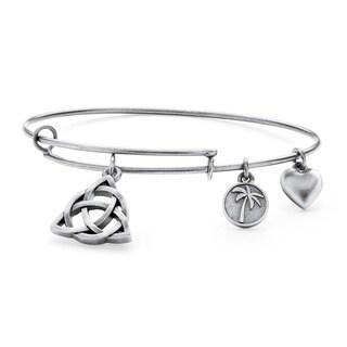 PalmBeach Silvertone Celtic Knot Tailored Charm Bracelet
