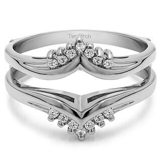 10k Gold 3/4ct TDW Diamond Traditional-style Chevron-style Ring Guard (G-H, I1-I2)
