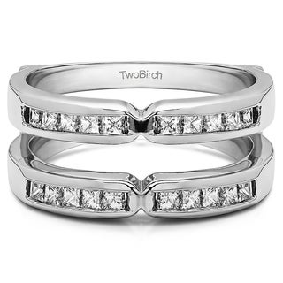 14k Gold 1/3ct TDW Diamond Traditional X-style Jacket Ring Enhancer (G-H, SI2-I1)