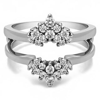 14k Gold 2/5ct TDW Diamond Double-row Prong-set Ring Guard (G-H, SI2-I1)