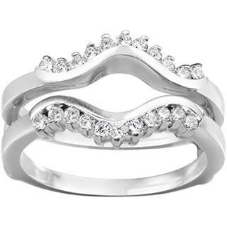 18k Gold 1/4ct TDW Diamond Wave-inspired Classic Ring Guard (G-H, SI2-I1)