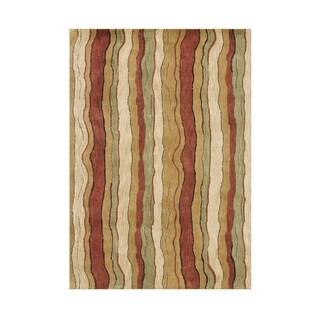 Alliyah Handmade Winter Wheat New Zealand Blend Wool Rug (5' x 8')