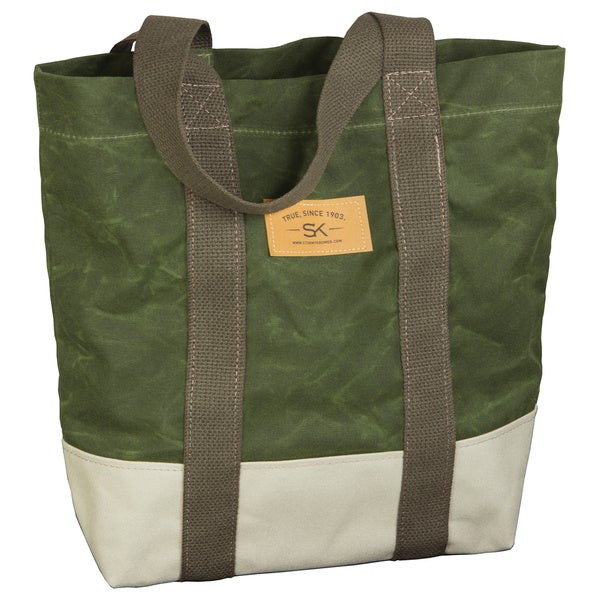 Stormy Kromer Olive Market Tote in Waxed Cotton