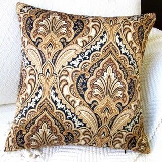 Artisan Pillows Indoor 20-inch European Paisley in Gold Modern Accent Throw Pillow
