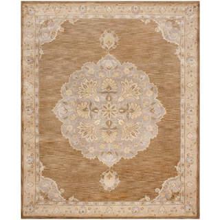 Hand Tufted Wool Light Brown Rug (8 x 10)