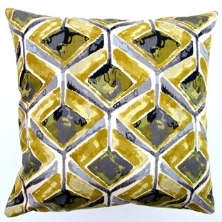 Artisan Pillows Indoor 20-inch Modern Geometric Abstract in Yellow Accent Throw Pillow Cover
