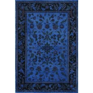 Ultramarine Blue Wool Overdyed Rug (4 x 6)