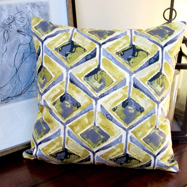 Artisan Pillows Indoor 20-inch Modern Geometric Abstract in Yellow Accent Throw Pillow