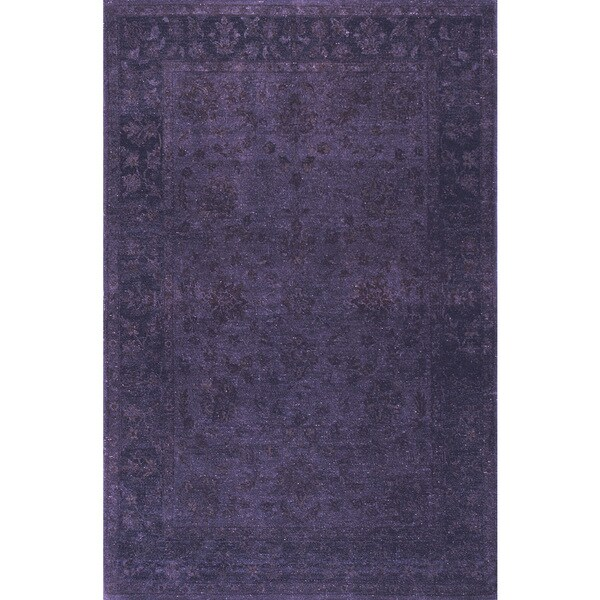 Overdyed Blue Pitch Black Rug (5 x 7)