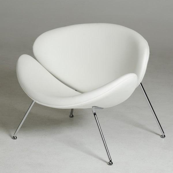 Modrest Anais Contemporary White Leatherette Accent Chair