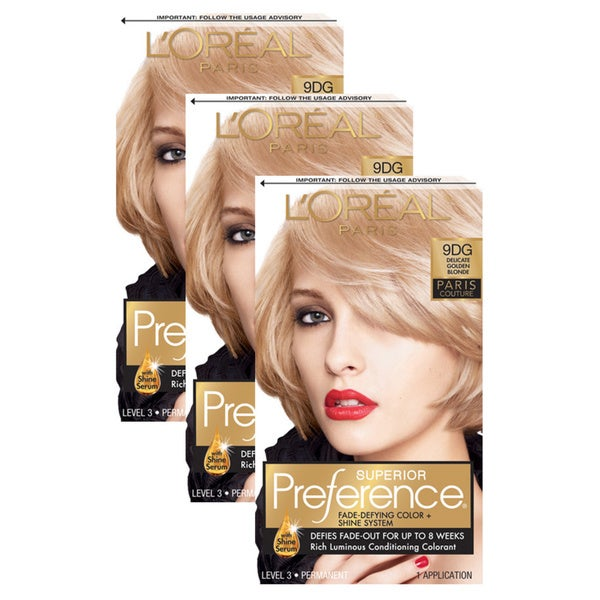 L'Oreal Paris Superior Preference Color 9DG Delicate Golden Blonde (Pack of 3)
