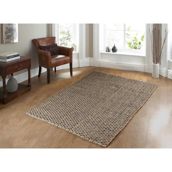 Criss Cross Black Area Rug
