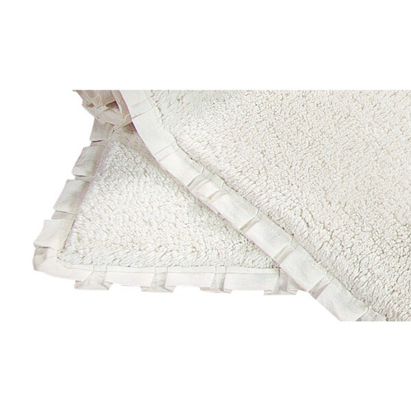 Verona Pleet Trim 2-piece Bath Rug