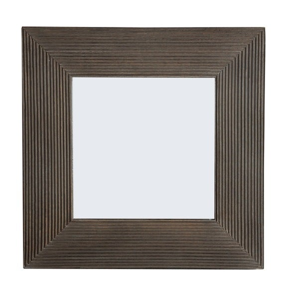 Lana Square Brown Delicate Line Frame 2-way Hanging Mirror