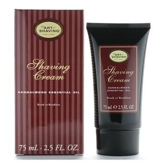 The Art Of Shaving 2.5-ounce Shaving Cream Sandalwood Essential Oil Brush or Brushless