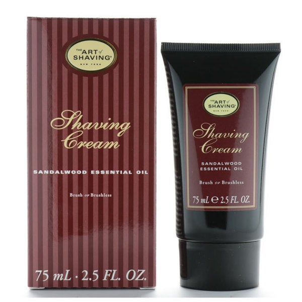 The Art Of Shaving 2.5-ounce Shaving Cream Sandalwood Essential Oil Brush or Brushless