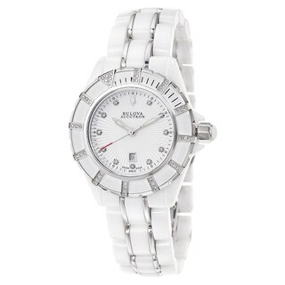 Bulova Women's 'Mirador' Stainless Steel and Ceramic Swiss Quartz Watch