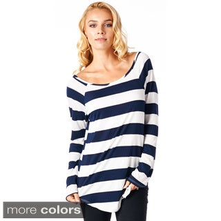 2inch Stripe Sporty Tunic Top - Made In USA