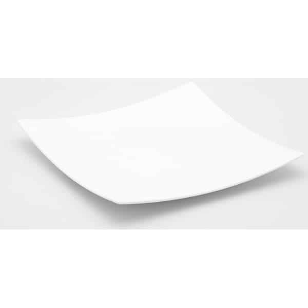 Extreme 12.5-inch White Square Platter