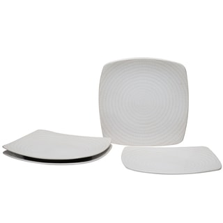 White Rice 8-inch Square Salad Plate (Set of 4)
