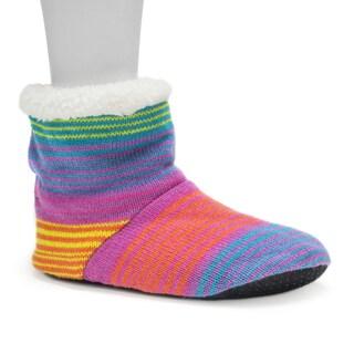 Muk Luks Women's Bright Multi Bootie Slippers