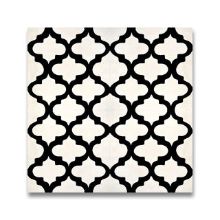 Pack of 14 Lantern Balck and White Handmade Cement/ Granite 8-inch x 8-inch Floor and Wall Tile (Morocco)