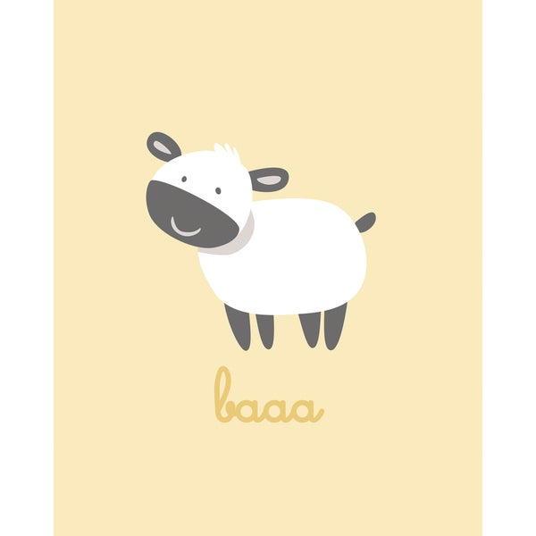 Bethany Berndt Shackelford 'Barn Babies Baaa' Framed Canvas Wall Art (Set of 2)