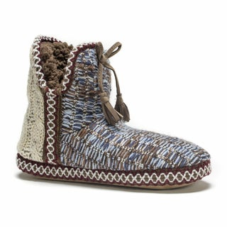 Muk Luks Women's Blue Amira Slipper