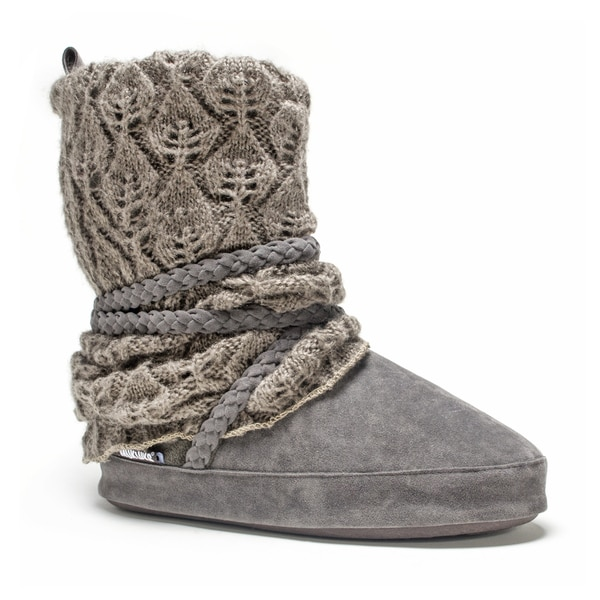 Muk Luks Women's Grey Judie Slipper