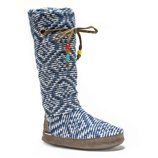 Muk Luks Women's Blue Grace Slipper