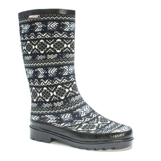 Muk Luks Women's Blue Anabelle Rainboot