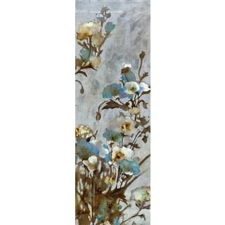 Portfolio Canvas Decor Citrine 'Floral in Silver I' Framed Canvas Wall Art (Set of 2)
