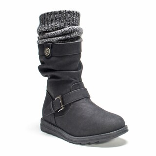 Muk Luks Women's Black Sky Boot
