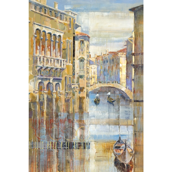 Michael Longo 'Canal Colors' Framed Canvas Wall Art