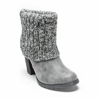 Muk Luks Women's Grey Chris Boot