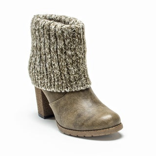 Muk Luks Women's Taupe Chris Boot