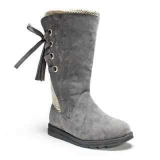 Muk Luks Women's Grey Luanna Boot