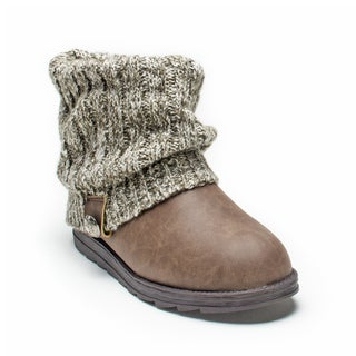 Muk Luks Women's Brown Marl Patti Boot