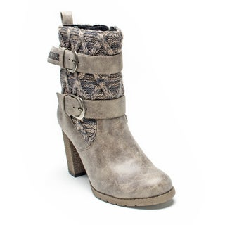 Muk Luks Women's Taupe Katy Boot